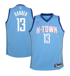 Youth Houston Rockets #13 James Harden Nike Blue 2020-21 Swingman Jersey