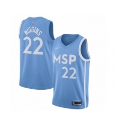 Men's Minnesota Timberwolves #22 Andrew Wiggins Swingman Blue Basketball Jersey - 2019 20 City Edition