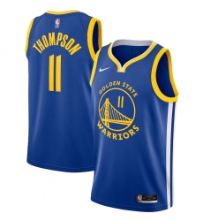 Men's Golden State Warriors #11 Klay Thompson Nike Royal 2020-21 Swingman Jersey