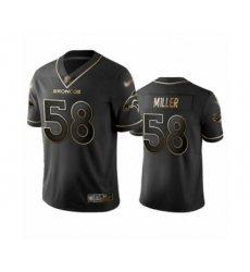 Men's Denver Broncos #58 Von Miller Black Golden Edition Limited Football Jersey
