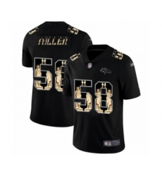Men's Denver Broncos #58 Von Miller Black Statue of Liberty Limited Football Jersey