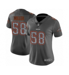 Women's Denver Broncos #58 Von Miller Gray Static Fashion Limited Football Jersey