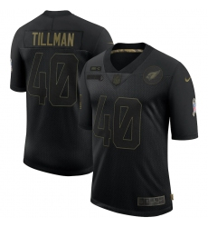 Men's Arizona Cardinals #40 Pat Tillman Black Nike 2020 Salute To Service Limited Jersey