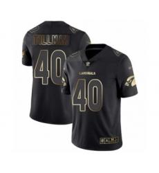 Men's Arizona Cardinals #40 Pat Tillman Limited Black Gold Vapor Untouchable Football Jersey