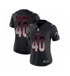 Women's Arizona Cardinals #40 Pat Tillman Limited Black Smoke Fashion Football Jersey
