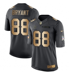 Youth Nike Dallas Cowboys #88 Dez Bryant Limited Black/Gold Salute to Service NFL Jersey