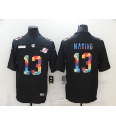 Men's Miami Dolphins #13 Dan Marino Rainbow Version Nike Limited Jersey