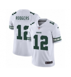 Men's Green Bay Packers #12 Aaron Rodgers White Team Logo Cool Edition Jersey