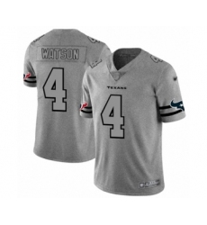 Men's Houston Texans #4 Deshaun Watson Limited Gray Team Logo Gridiron Football Jersey