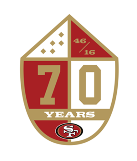 49ers 70th anniversary patch